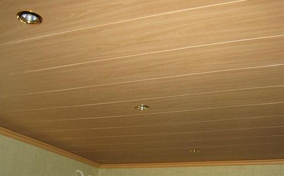 установка пластиковой вагонки на потолок