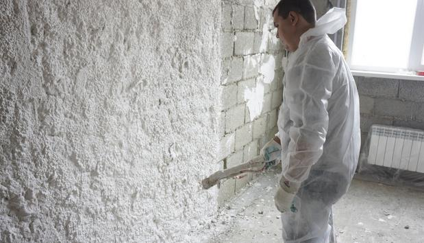 Штукатурка стен машинным способом в Харькове