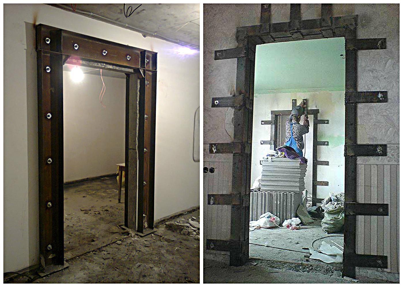 Вырезка дверных проемов в стене